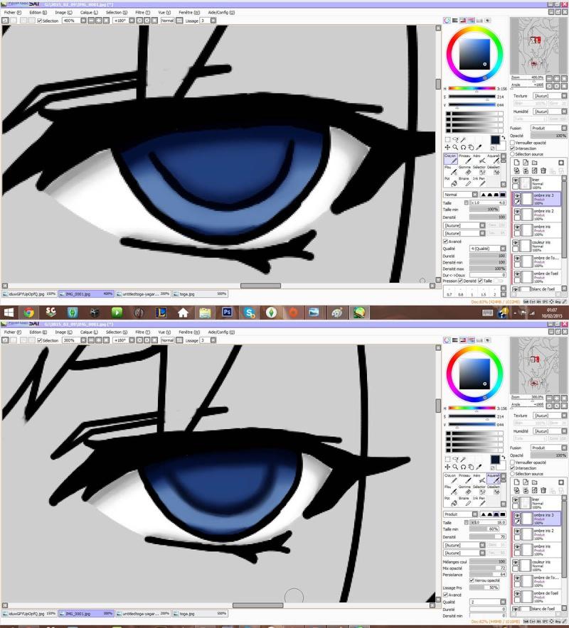 Tutoriel de colorisation sur Paint Tool Sai par Yagari Sbs710