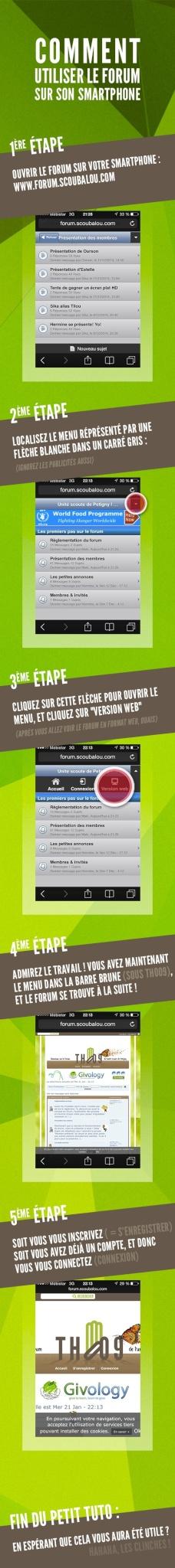 Utiliser le forum sur son smartphone, comment ? Tuto-f10