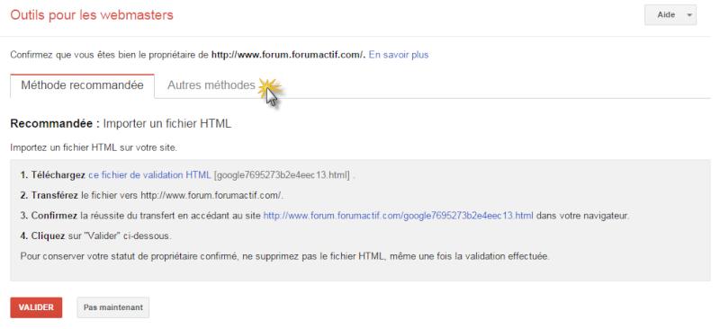 Intégrer Google Search Console sur un Forumactif Gwt111