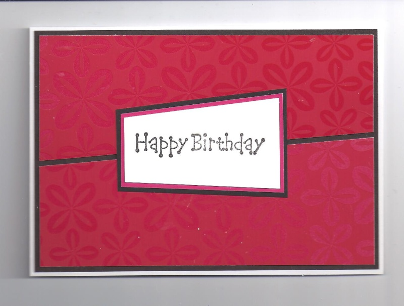 Recycled birthday card Lauras10
