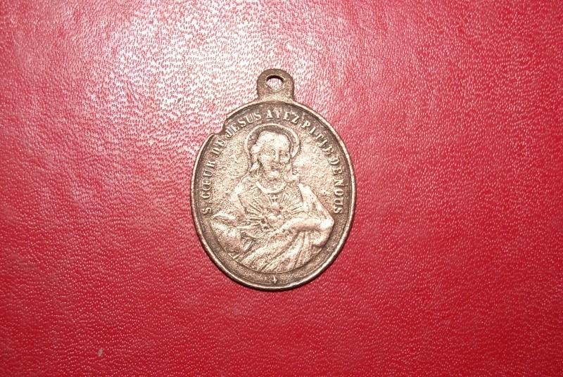 Médaille Sacré Coeur de Jésus et Marie Face_a10