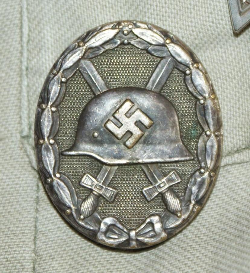 Badge des blessés argent marqué 30 Arg39110