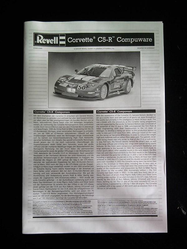 Revell Corvette C5-R Compuware 1:25 02_17
