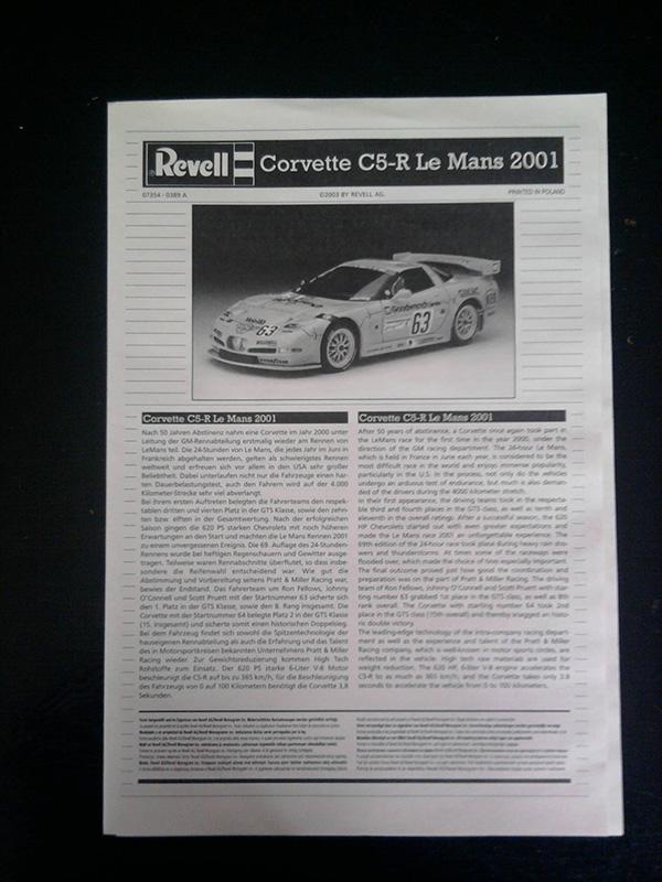 Revell Corvette C5-R Le Mans 2001 1:25 02_18