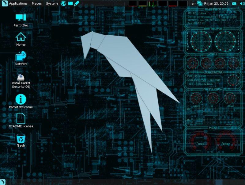 توزيعة Parrot Security OS  Scherm10