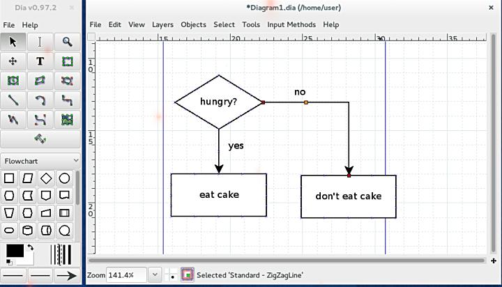 Dia Diagram Editor برنامج Select13