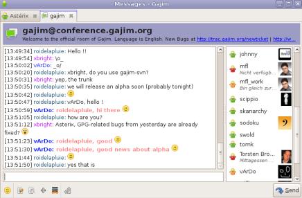برنامج  Gajim  Select36