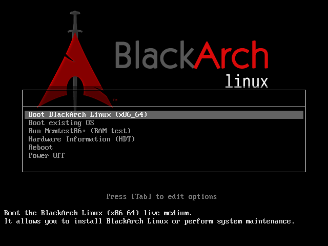 توزيعة  BlackArch Syslin10