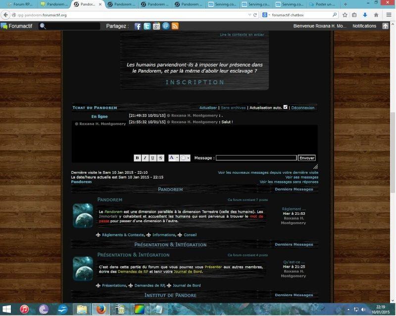 Encadrement de la ChatBox Sans_t10