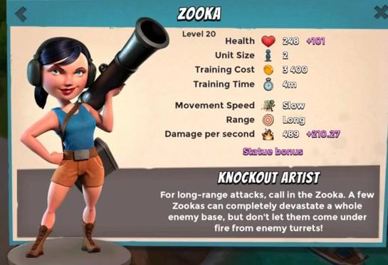 Maximum Level Troopers & Battle assist Zooka10