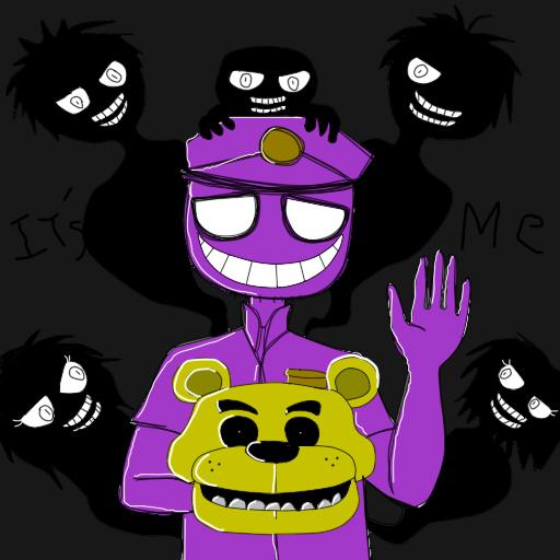 Mi dibujo de el Hombre morado... Purple13