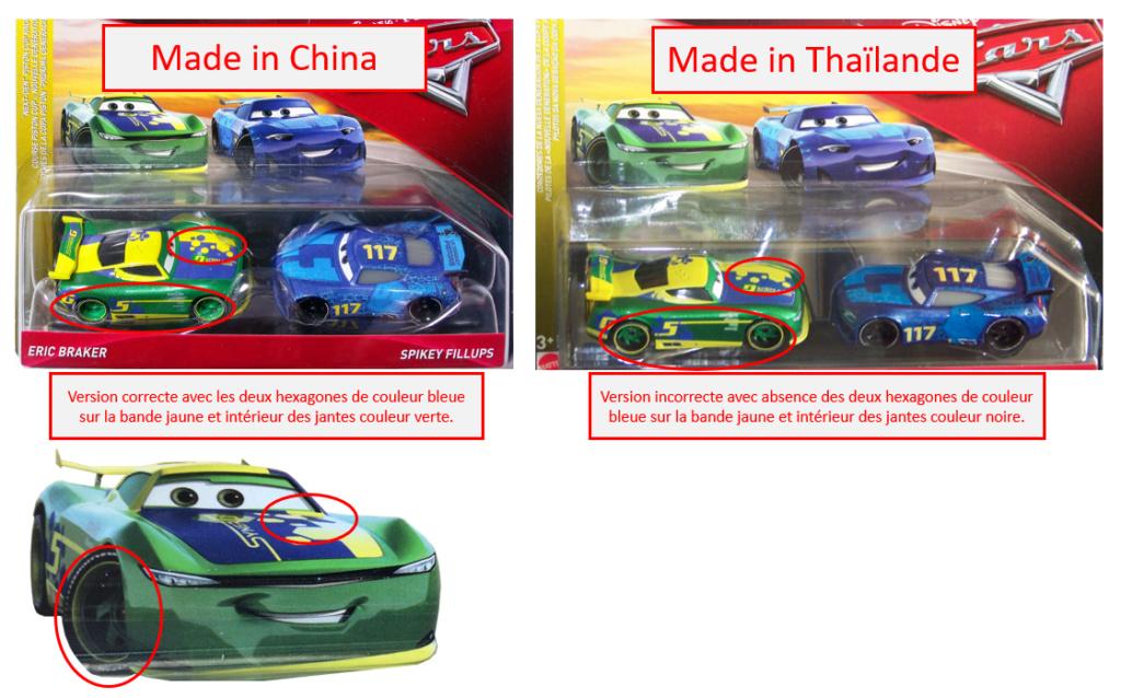 Les variantes des miniatures de Cars 3... la spécialité de Mattel !  Varian10