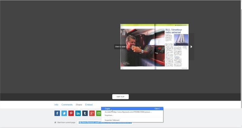 Comment partager un pdf en ligne, en faire un magazine à feuilleter... Flipsn14
