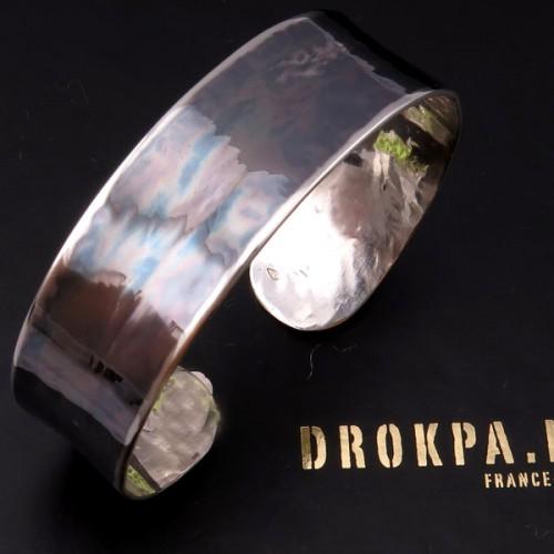 bracelet simple oxydé et poli Bracel10