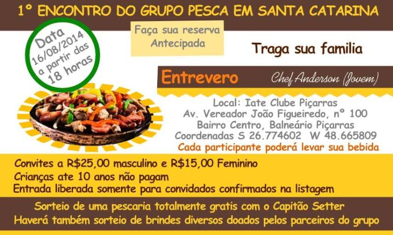 Primeiro encontro do Grupo Pesca em Santa Catarina Cartaz12