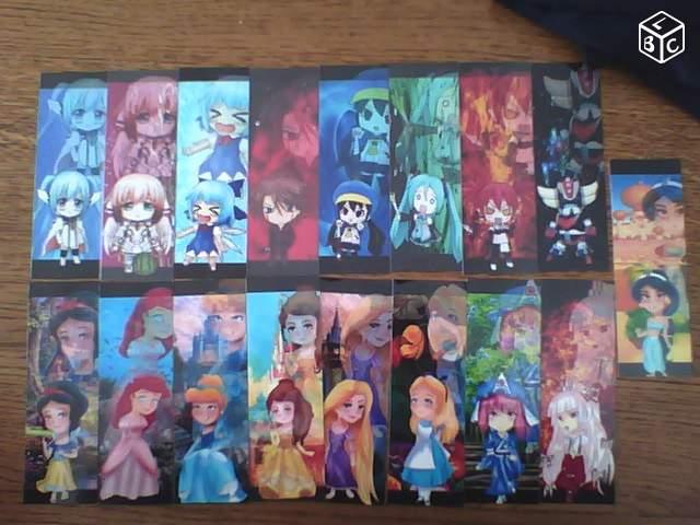 Vente de marques page manga et vanguard, porte clé manga :) (dessiner par mes soins) 45540210