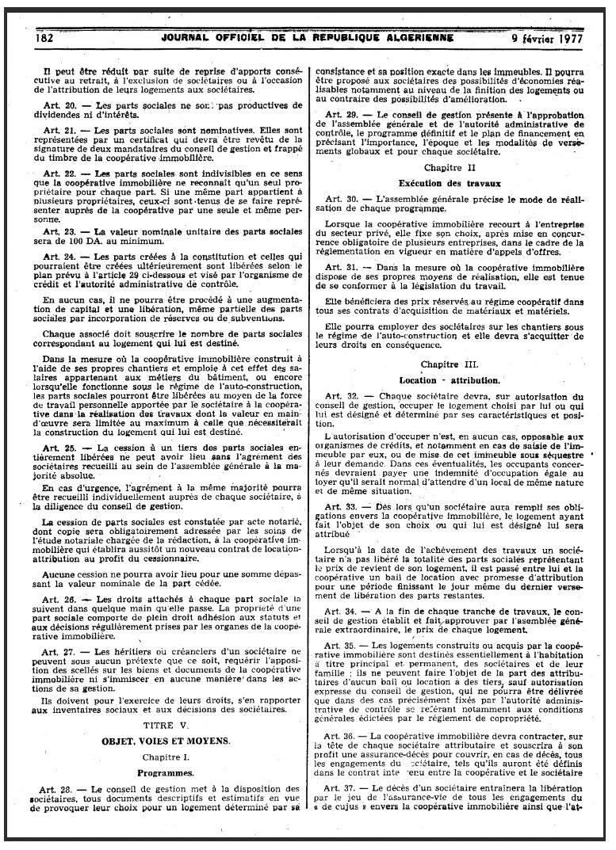 Ordonnance n 76-92 relative à l'organisation de la coopération immobilière Page310
