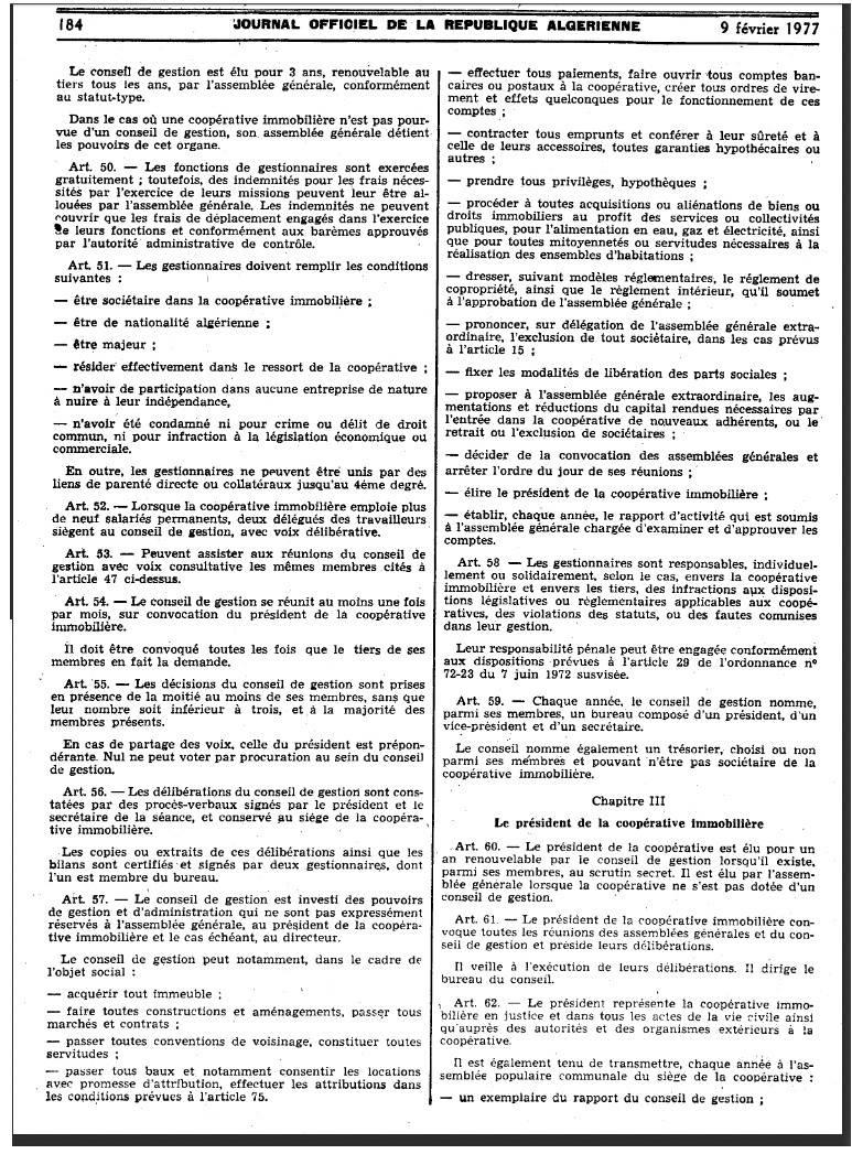 Ordonnance n 76-92 relative à l'organisation de la coopération immobilière Page510