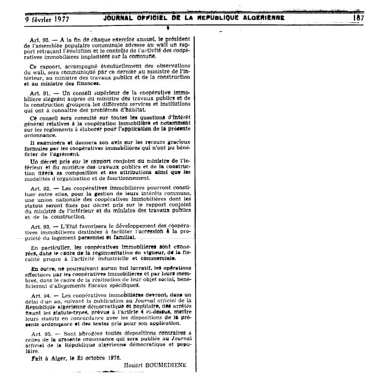 Ordonnance n 76-92 relative à l'organisation de la coopération immobilière Page810