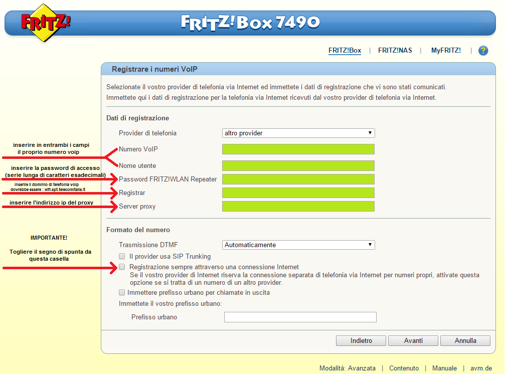 Sostituire il Router Alice Gate VoIP 2 Plus Wi-Fi con Fritz!Box 7170 ( Linea Alice) - Pagina 9 Regist10
