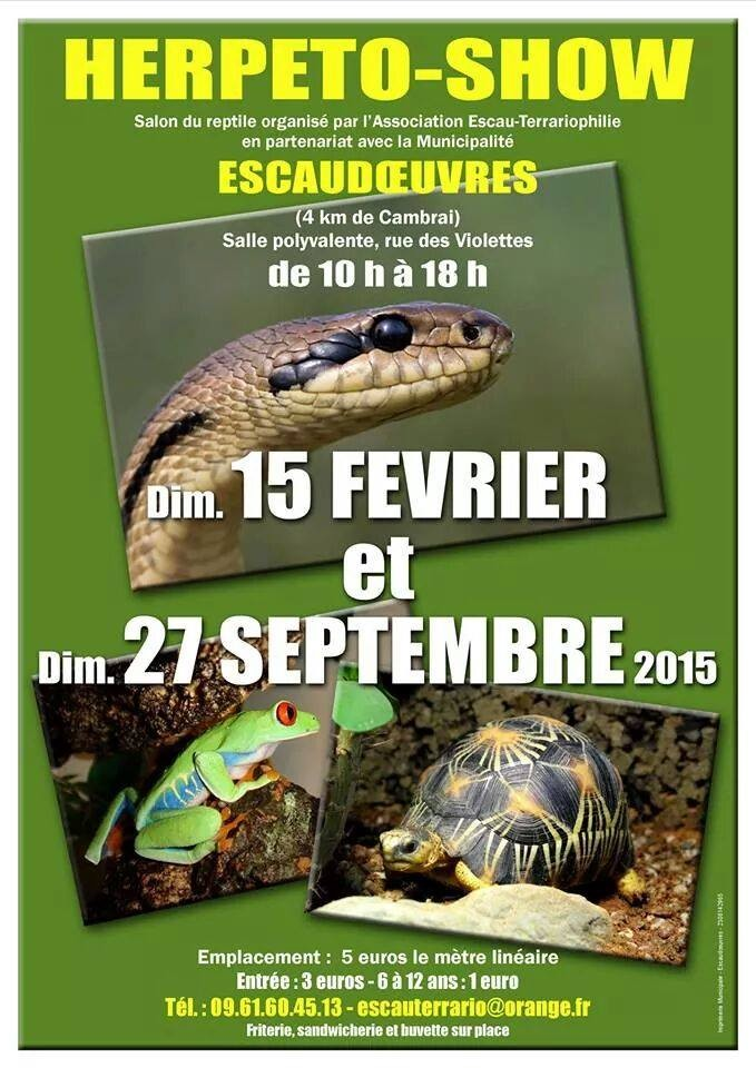 Bourse aux reptiles Escaudoeuvres fevrier 2015 Bourse10