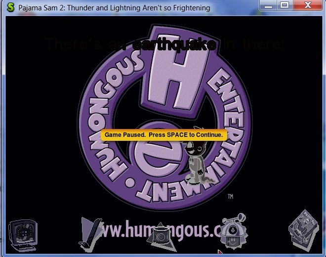 Humongous Entertainment logo room in ScummVM's Debugger Acaaad10