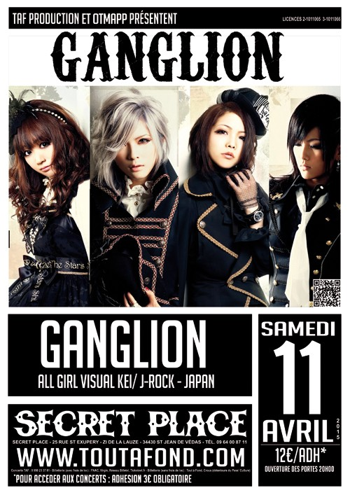 GANGLION (All Girl Visual Kei/J-Rock) @ Secret Place Montpellier A3_gan11