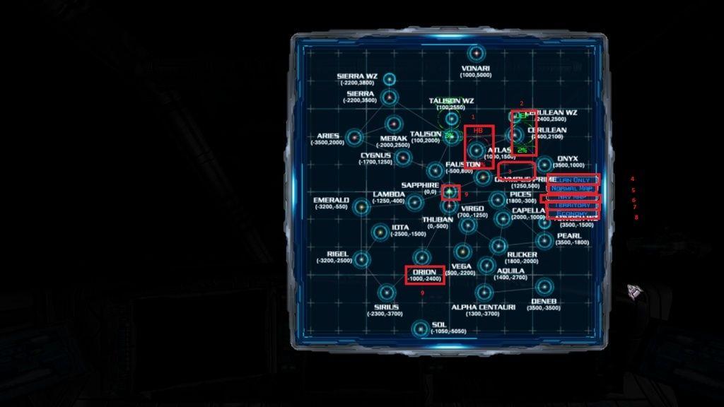 Carte stelaire comment se retrouve et l'utiliser Quadra10
