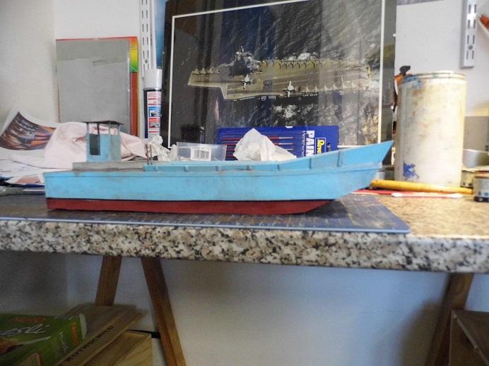 Après le train-auto, le train-bateau scratchbuilding 1/48 00110