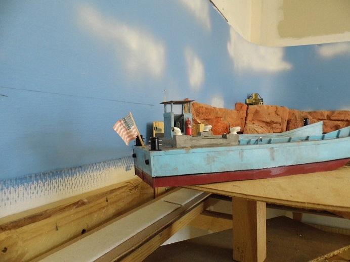 Après le train-auto, le train-bateau scratchbuilding 1/48 00711