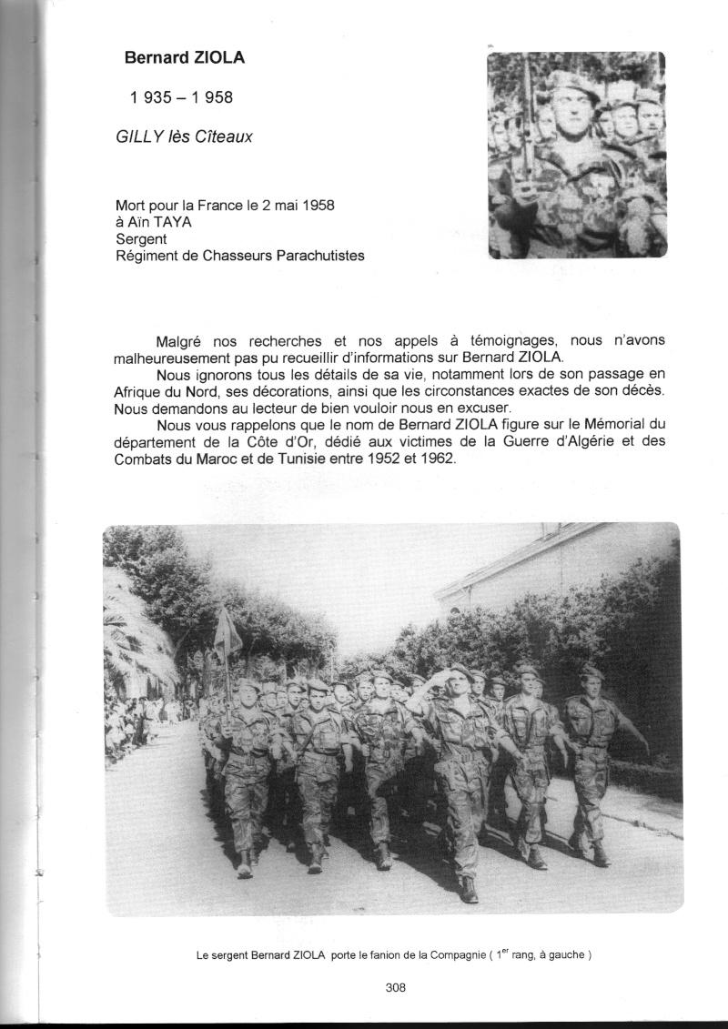 PARACHUTISTES du département de la COTE D'OR morts au champ d'honneur en Algérie Française Bernar11