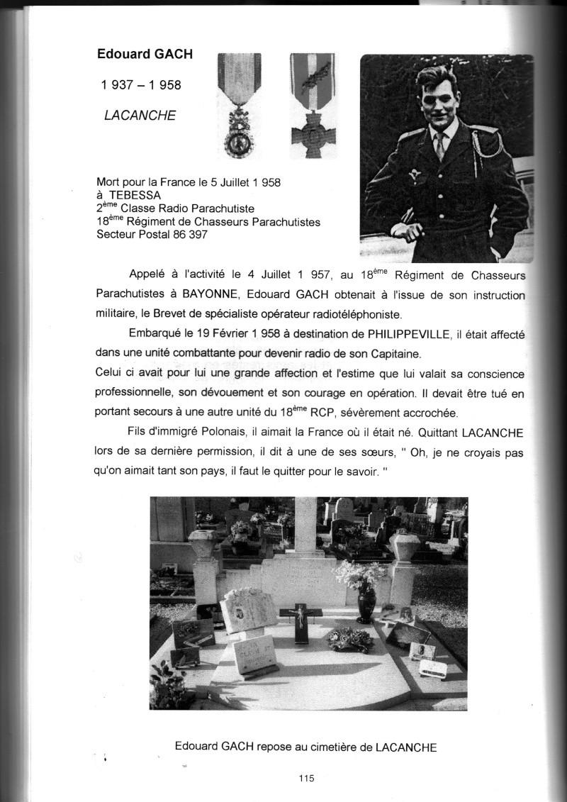 PARACHUTISTES du département de la COTE D'OR morts au champ d'honneur en Algérie Française Edouar11