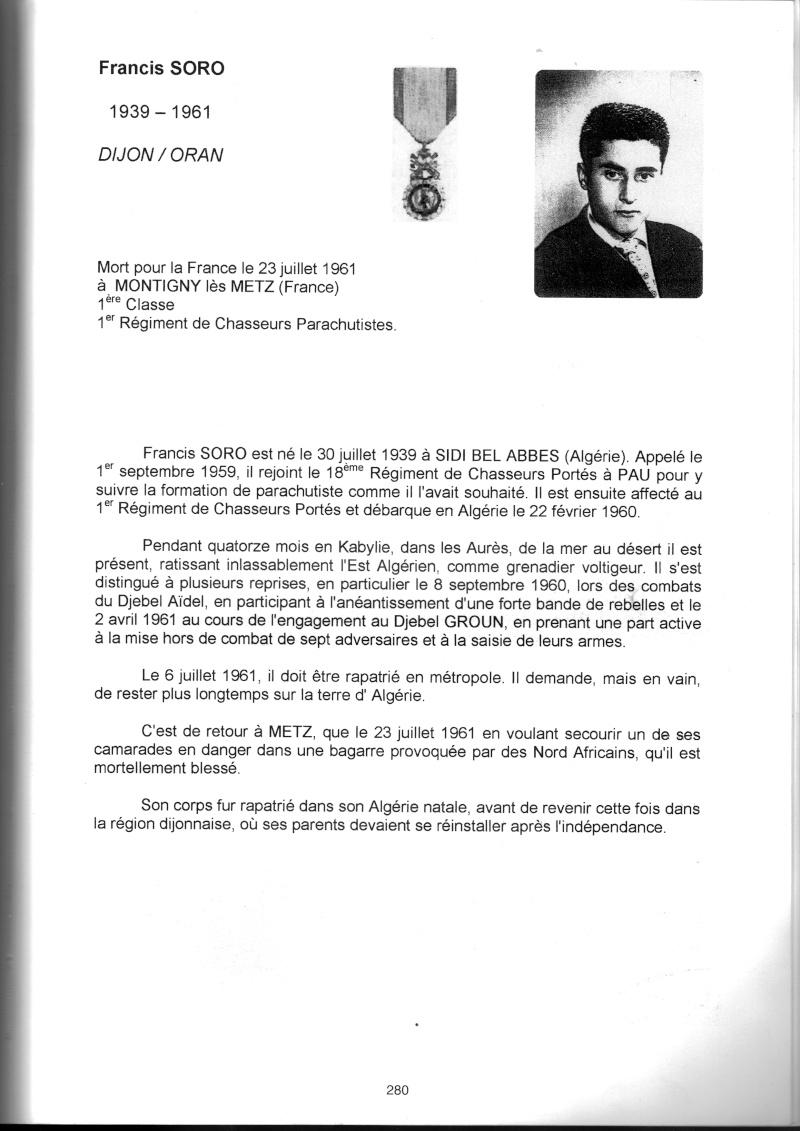 PARACHUTISTES du département de la COTE D'OR morts au champ d'honneur en Algérie Française Franci11
