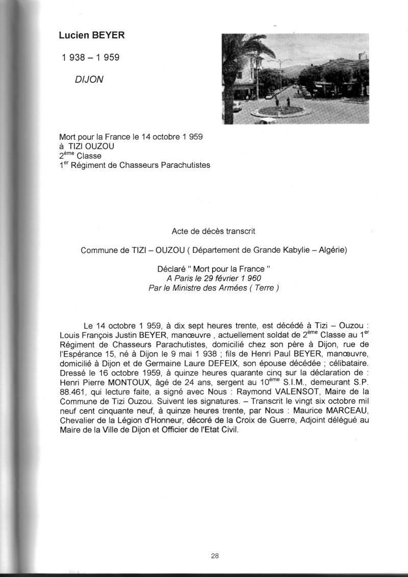 PARACHUTISTES du département de la COTE D'OR morts au champ d'honneur en Algérie Française Lucien10