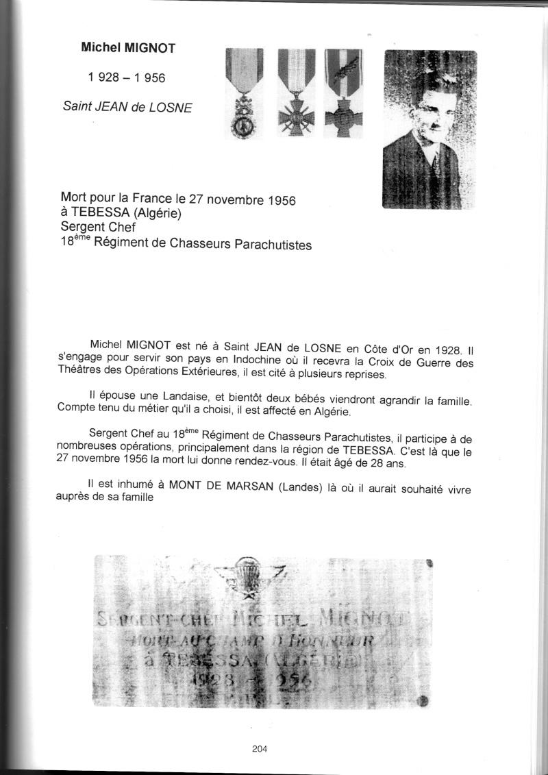 PARACHUTISTES du département de la COTE D'OR morts au champ d'honneur en Algérie Française Michel10