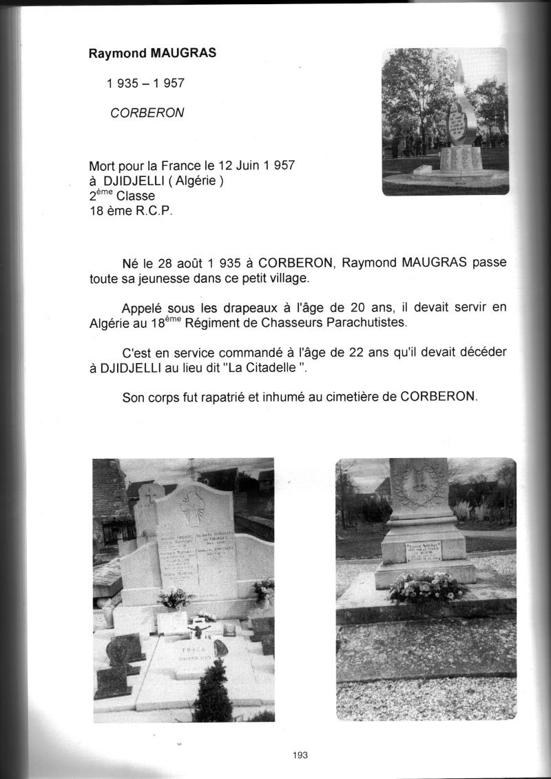 PARACHUTISTES du département de la COTE D'OR morts au champ d'honneur en Algérie Française Raymon11
