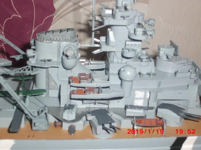 meine erste Tamiya Bismarck 1:350 Cimg1610