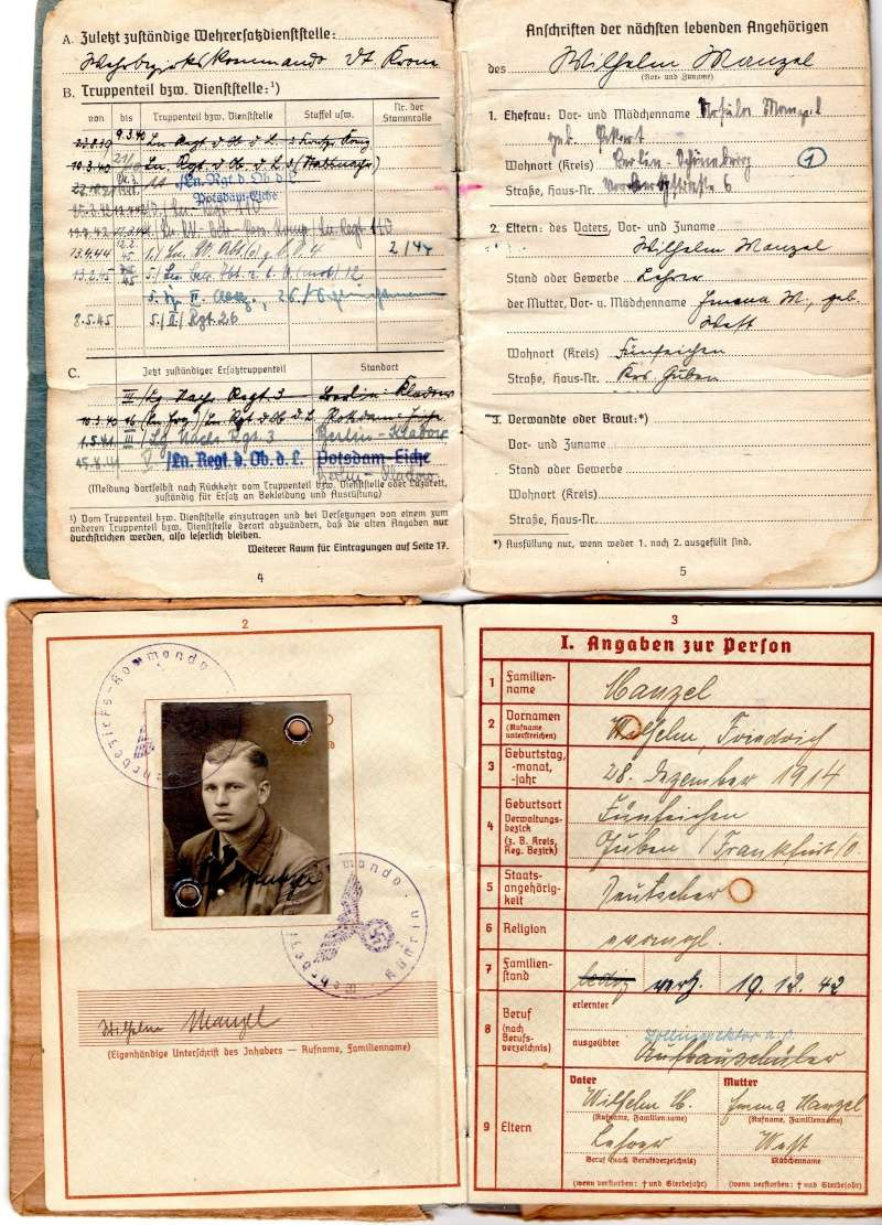Vos livrets militaires allemands WWII (Soldbuch, Wehrpass..) / Heer-LW-KM-SS... - Page 2 Img00610