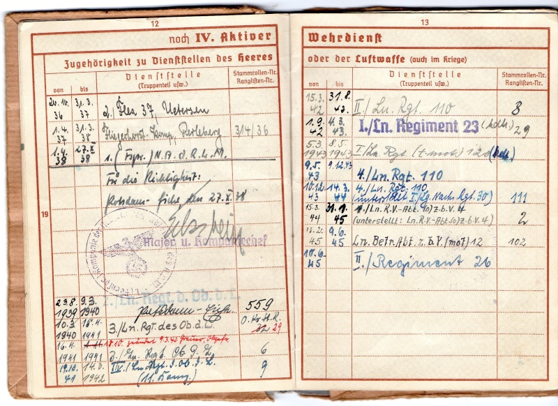 Vos livrets militaires allemands WWII (Soldbuch, Wehrpass..) / Heer-LW-KM-SS... - Page 2 Img00710