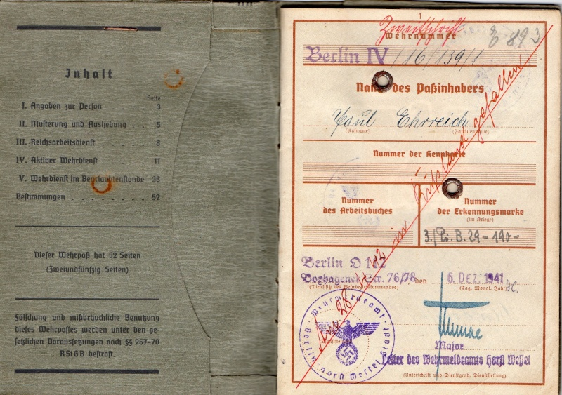 Vos livrets militaires allemands WWII (Soldbuch, Wehrpass..) / Heer-LW-KM-SS... - Page 2 Img03010