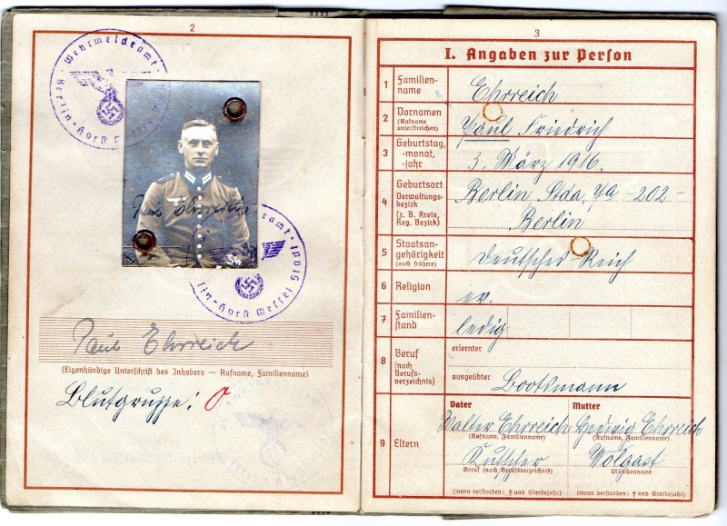 Vos livrets militaires allemands WWII (Soldbuch, Wehrpass..) / Heer-LW-KM-SS... - Page 2 Img03110