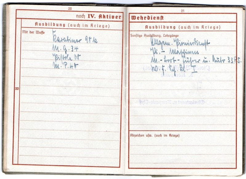 Vos livrets militaires allemands WWII (Soldbuch, Wehrpass..) / Heer-LW-KM-SS... - Page 2 Img03310