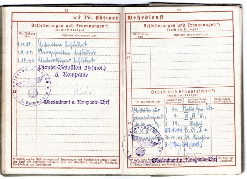 Vos livrets militaires allemands WWII (Soldbuch, Wehrpass..) / Heer-LW-KM-SS... - Page 2 Img03410