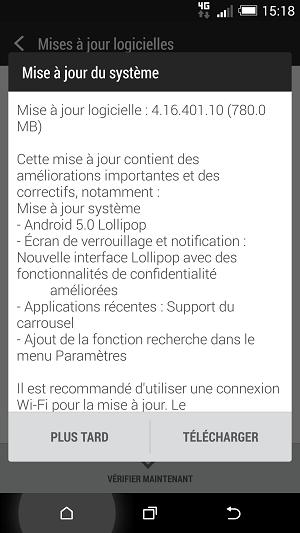 [HTC ONE M8 LOLLIPOP] L'Ota est arrivée sur le sol français ... Screen10
