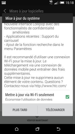 [HTC ONE M8 LOLLIPOP] L'Ota est arrivée sur le sol français ... Screen11