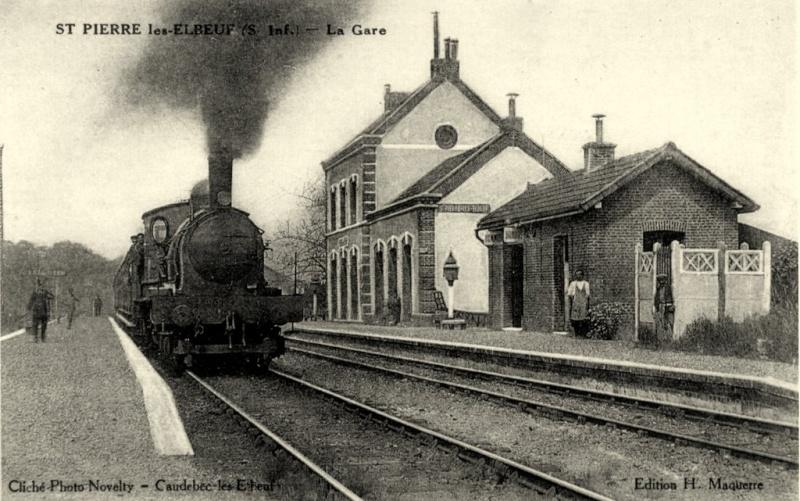 La gare de Saint Pierre lès Elbeuf (hier et aujourd'hui) St_pie14