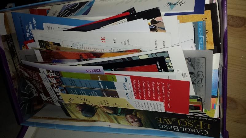 Donne gros lot de marque pages 20150110