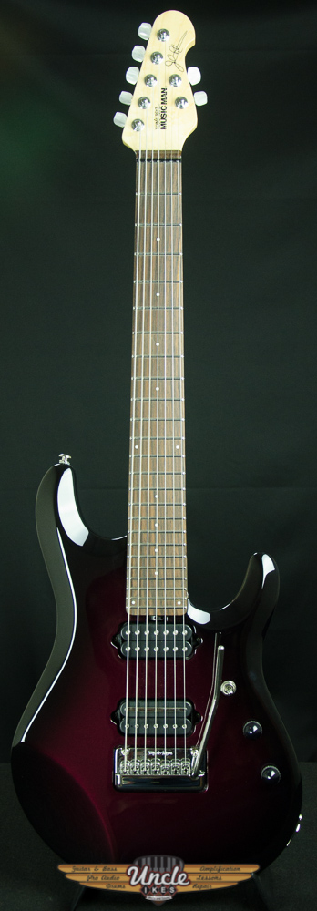 $1400 -Ernie Ball Musicman JP7-7 string, Pearl Red Burst - Like-New Front_10