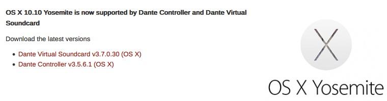 YOSEMITE COMPATIBILITY Dante_10