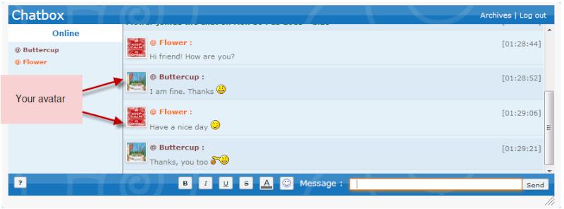 Voeg je avatar toe aan de chatbox Chatbo11